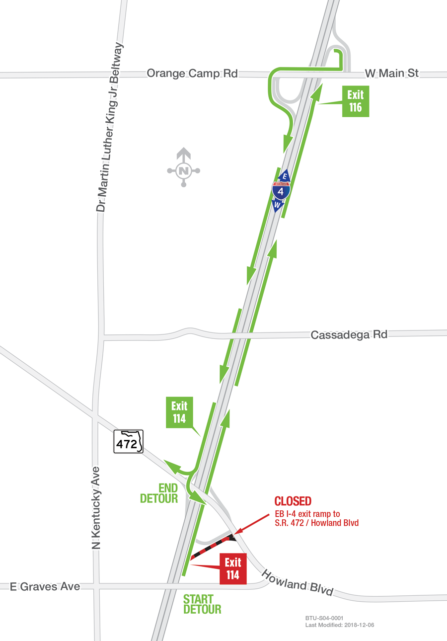 Nightly I-4 Ramp Closures at S R  472 Scheduled Week of April 8 | I