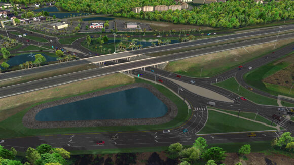 Rendering of what the interchange at I-4 and County Road 532 will look like upon completion. Construction on the interchange began July 2021.